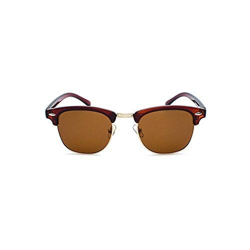 Aoligei L'Europe et les États-Unis en métal lunettes de soleil grand cadre général Chao mans lunettes de soleil lunettes de soleil plates iPpPQ