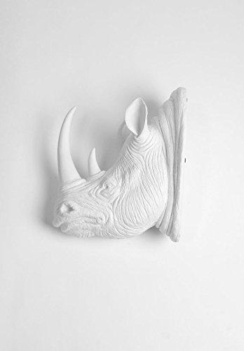 Amazon.com: Rhino Head Wall Mount, The Goliath in White Rhinoceros ...