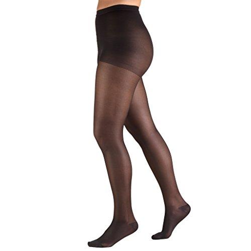 Truform Lites Pantyhose Queen Black