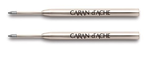 Caran D'ache Goliath Ballpoint Pen Refill Fine Black (Pack of 2)