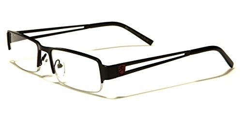 Khan Men's Square Half Frame Reading Glasses