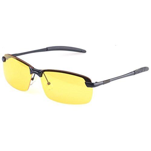 Pêche UV Femmes Sunglasses Jaune Soleil Protection Ski Lentille Conduite Hommes Eyewear Lunettes Noir Lunette Polarisées Cadre de LINNUO yfcZ0gxP