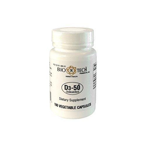 Biotech Pharmacal - D3-50  - 100 Veggie Capsules