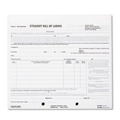 Bill Of Lading Short Form, 8 1/2 X 7, Four-Part Carbonless, 250 Forms By: Rediform by Office Realm