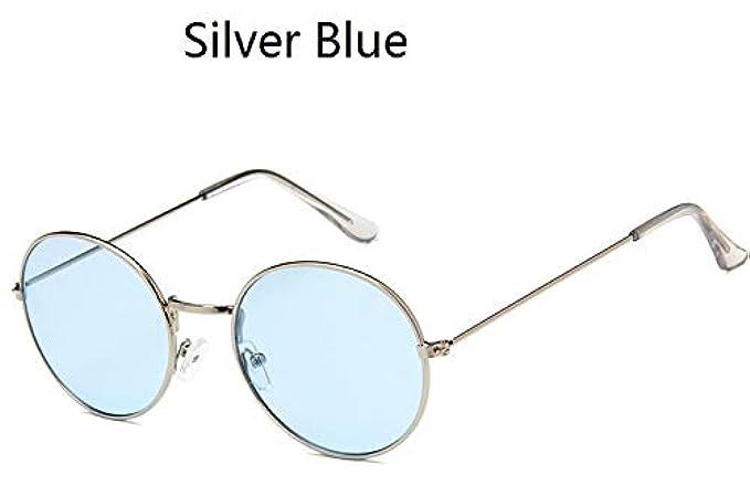 Moda Argento Ocean Round Occhiali Giallo Rosa Telaio Eyewear Designer Donne Maschile Da Blu Vintage Uv400 Metallico Tinta Sole Oscurata