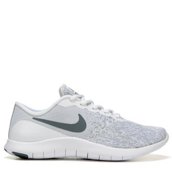Nike Women's Flex Contact, Running, WHITE/COOL GREY-METALLIC SILVER, 9.5 US M