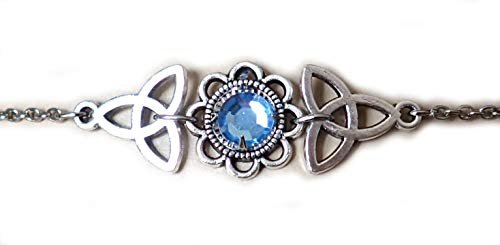 Moon Maiden Jewelry Celtic Triquetra Trinity Knot Headpiece Light Blue ()