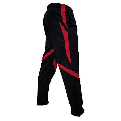 [해외]Amiley 남성용 스웨트팬츠 남성용 신축성 있는 허리 지퍼 하의 스트라이프 조거 스포츠 스웨트팬츠 / Amiley Men Sweatpants,Men`s Elastic Waist Zipper Bottom Pants Stripes Joggers Sports Sweatpant (X-Large, Black)