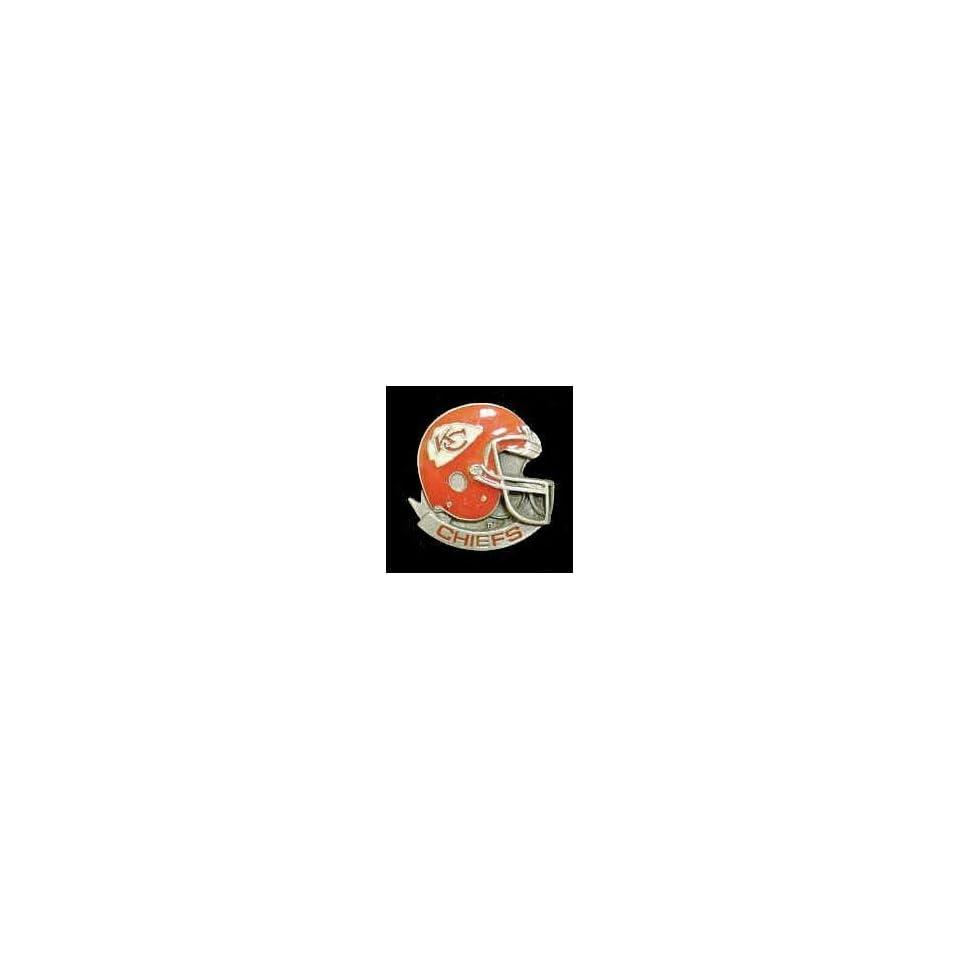 NFL Team Helmet Pin   Kansas City Chiefs