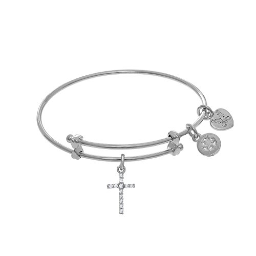 Angelica Cross Charm Expandable Tween Bangle Bracelet -  Angelica Collection