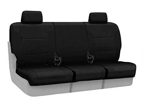 Coverking Custom Fit Front 40/20/40 Bench Seat Cover for Select Lincoln Town Car Models - Velour (Black) ()