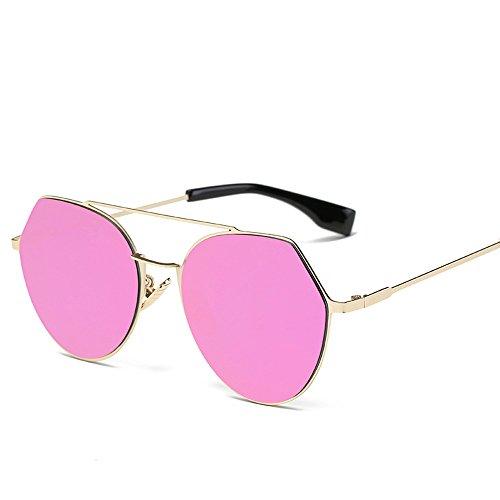 Lunettes De Soleil Covermason Femmes hommes été Vintage Retro lunettes mode unisexe miroir lentille voyage lunettes de soleil aviateur (Rose) qu5HwGc