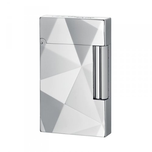 ST Dupont Line 2 Facettes Silver Plated Lighter