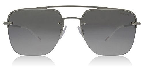 Prada Linea Rossa  Men's 0PS 54SS Silver Rubber/Light Grey Mirror Silver Sunglasses (Sunglasses Rossa Linea Prada)