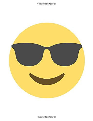 Emoji Notebook | smiling face with sunglasses: Lined | 8.5