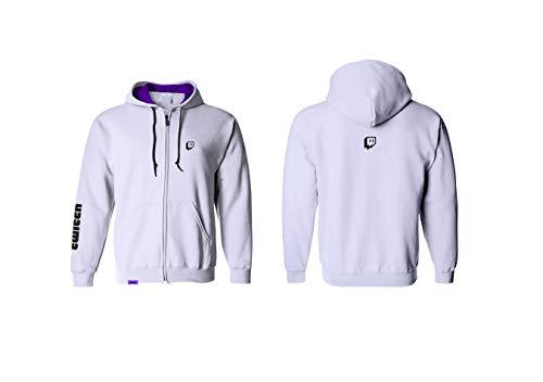 Twitch Logo Zipup Hoodie - Ice (Large)