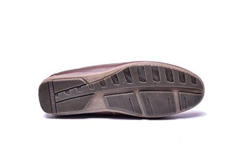 Hombre Verano VG4924 Vogar Cuero Mocasines Marrón Zapatos vdq8U8w