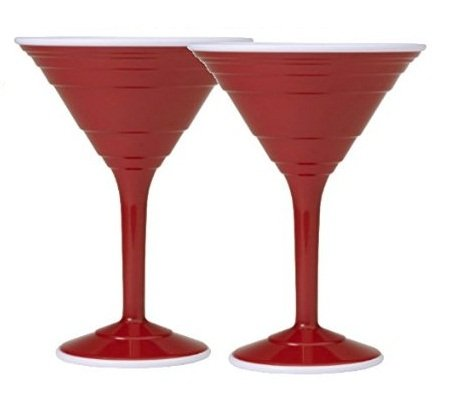 Red Cup Living 12oz Cocktail Cup *Set of (Red Martini Glass)