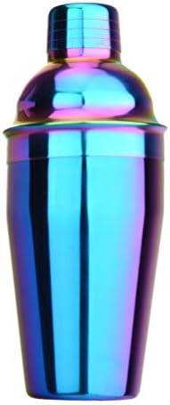 Garneck Cocktail Shaker Bunter Drink Shaker Edelstahl Cocktail Bar Tool für Bar Home Tool 550Ml