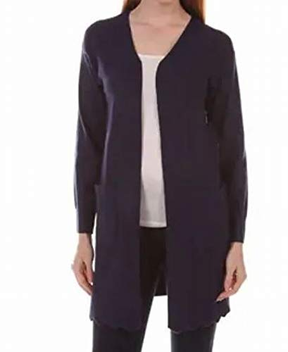 AGB 3/4 Ruched Sleeve Cozy Top Blue Large