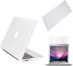 3 In 1 Matte Cyrstal Plastic Hard Case Keyboard Screen Guard Macbook Pro Retina 13 Inch [white]