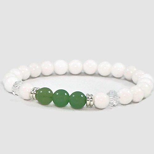 Beaded Women's Heart Chakra Stretch Bracelet, Gemstone ()