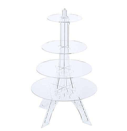 Eiffel Tower Wedding Party Tree Tower Cupcake Stand Display 4 Tier Round Cake Trees Acrylic Cupcake Stand Cake Display -