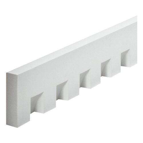Fypon MLD320-8 5 3/4'' W x 2 1/4'' Tooth/Space x 1 5/8'' P, 8' Length, Classic Dentil Moulding by Fypon