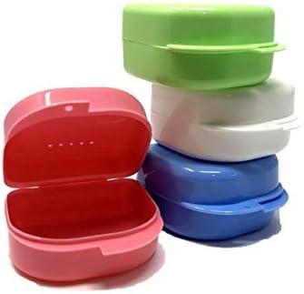 Cura Farma 25100 - Cuidado Dental Caja de Prótesis de Plástico 4-Piezas 100 g: Amazon.es: Salud y cuidado personal