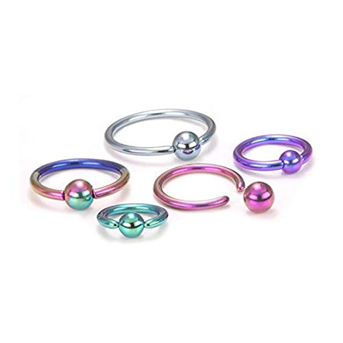 Painful Pleasures 14g Titanium Captive Bead Ring with Titanium Ball - 13mm ~ 1/2
