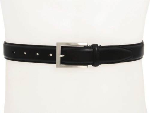 Calfskin Belt (Johnston & Murphy Men's Dress Belt,Black,Size)