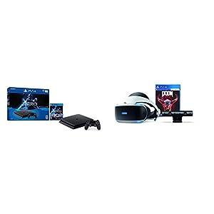 PlayStation 4 Slim 1TB Console - Star Wars Battlefront II Bundle + PlayStation VR - Doom Bundle from Sony