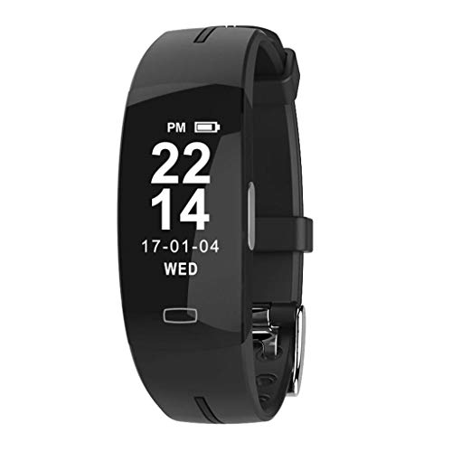 Shnnysany- Pedometer Travel Outdoor Smart Watch with Heart Rate Blood Pressure Monitoring, IP67 Waterproof Pedometer Calorie Counter Multi-Sport Mode Wristband for Android iOS Best Gift (Ram Via Set Chip)
