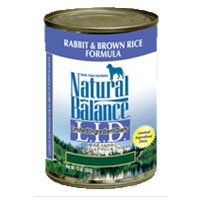 Natural Balance Limited Ingredient Diets Rabbit and Brown Rice Formula Canned Dog Food, My Pet Supplies