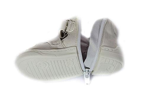 Happy Baby Zippy Shoes, Infant/Toddler, Boys Girls, First Walking Shoes, Unique Zipper Design (Age 3-9 Months (4.4 inches, US Size 3), Summer White)