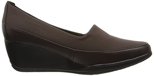 Bomba Helen Wedge Clarks Retrato Brown Leather