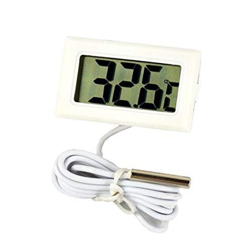 Kiorc Celsius Digital Thermometer Aquarium Refrigerator Temperature Detector Black