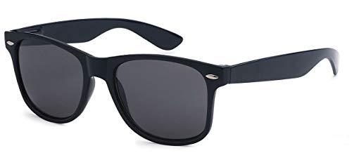 (WebDeals Retro - Sunglasses Classic 80's Vintage Style Design Polarized or Standard Lens (Navy Blue, Smoke) )