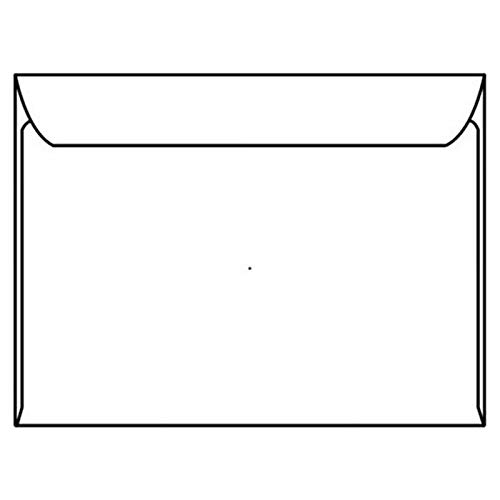 Open Side Booklet Envelopes, 5-3/4' x 8-7/8', 24#, White, Side Seams (Box of 500)