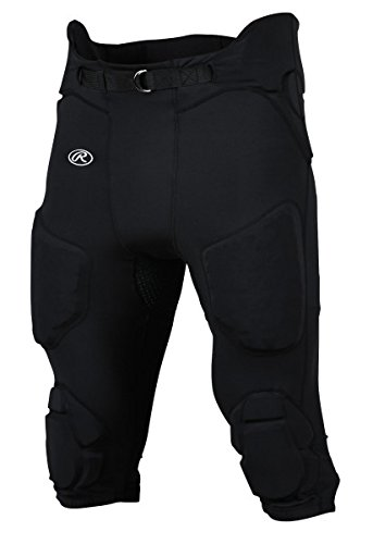 Rawlings Sporting Goods Men's D-Flexion Integrated Football Pants, Small, Black - Rawlings Football Pants