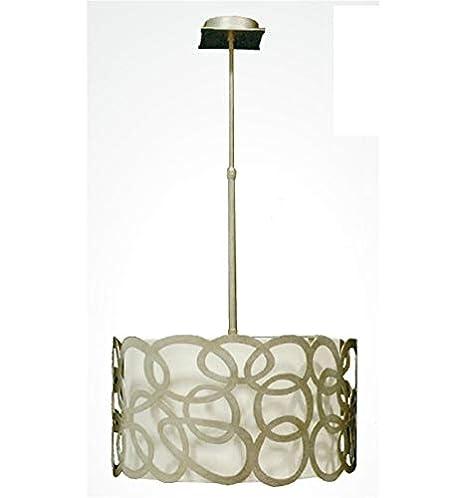 Lámpara de Forja Moderna de Techo Elipse - Blanco Brillo, Diámetro ...