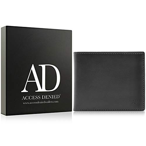 Vegan Leather Bifold Wallets For Men - Cruelty Free Non Leather Mens Wallet With ID Window Gifts For Men