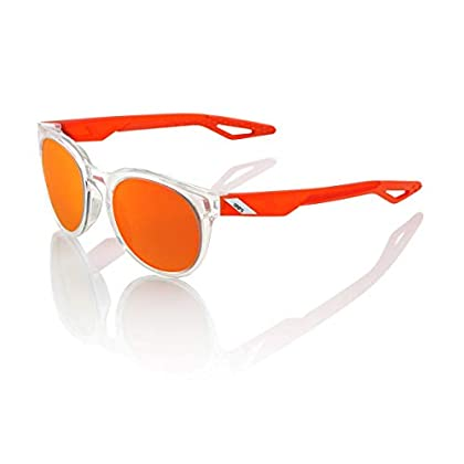 Image of 100% Unisex-Adult's Speedlab (61026-010-46) Campo - Polished Crystal Clear - Orange Multilayer Mirror, One Size, Sunglasses