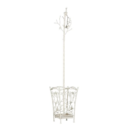 Southern Enterprises Bird and Branch Hall Tree, French Vanilla Finish