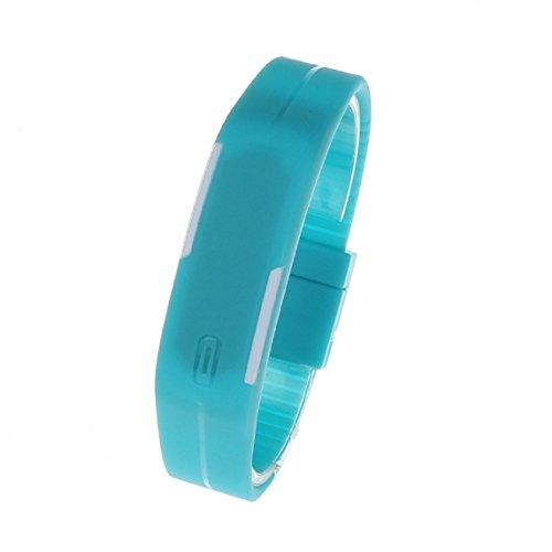 Bessky(TM) 2015 Ultra Thin Men Girl Sports Silicone Digital LED Sports Bracelet Wrist Watch(Blue)