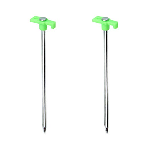 - Fewear Stainless Steel Pegs Tent Stakes Heavy Duty Camping Glow Luminous Nail,Tent Stake Pegs Garden Stake Canopy Gazebo Accessories Peg Stakes (2 PCS, C)