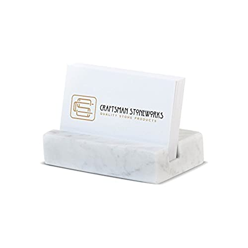 Chic business card holder white carrara marble www chic business card holder white carrara marble colourmoves