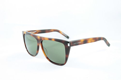 Saint Laurent Unisex SL 1 Light Havana/Green Barberini Mineral Lens - 1 Sunglasses Sl