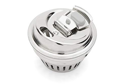 Jarware 82658 Stainless Steel Fruit Infusion Mason Jar Lid, 2.75 x 2.75 x 2.25 inches, Metallic