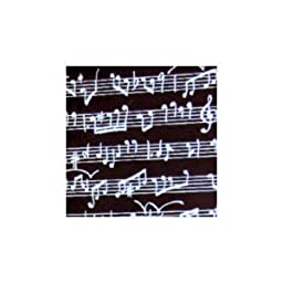 Chocolate Transfer Sheet Musical Notes White Pattern 2 Sheets
